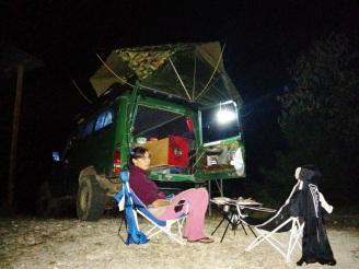 Primera noche en la carpa